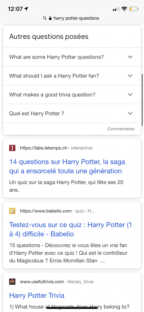 harry potter rich cards questions agence digitale casablanca seo